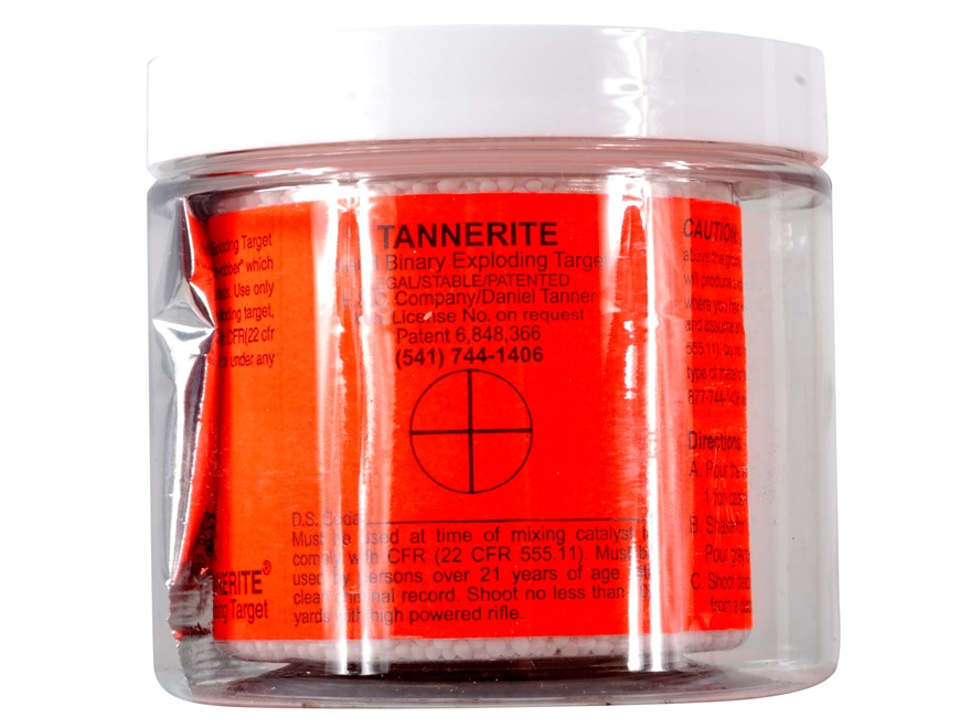 Tannerite Exploding Rifle Target 1/2 lb Jar