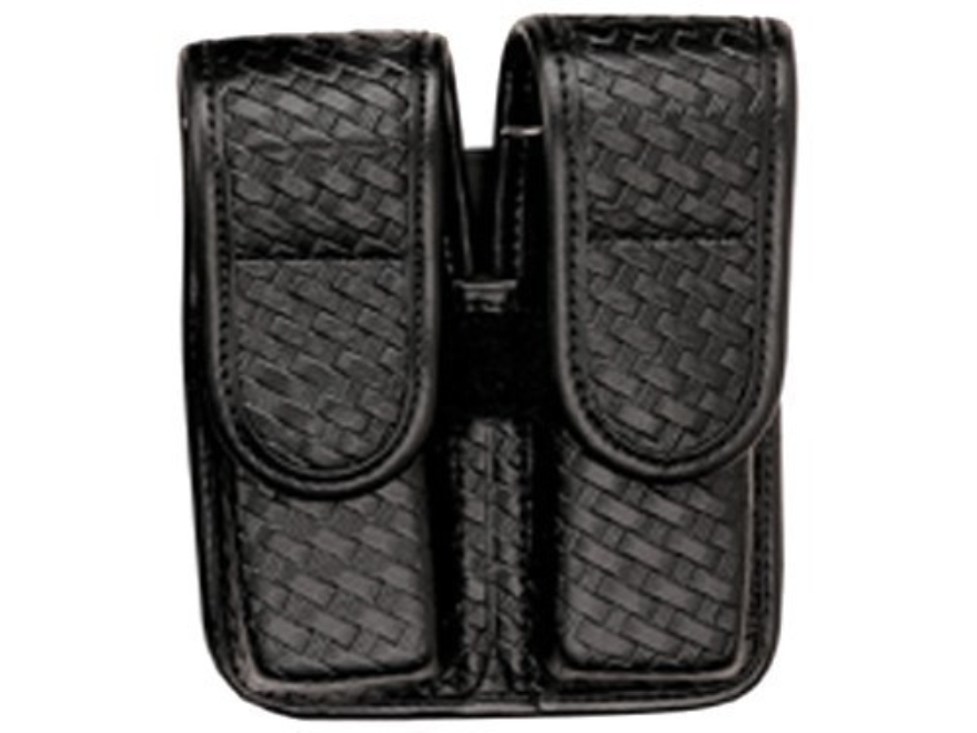 Bianchi 7902 AccuMold Elite Double Magazine Pouch Single Stack 9mm, 45 ACP Hidden Snap ...