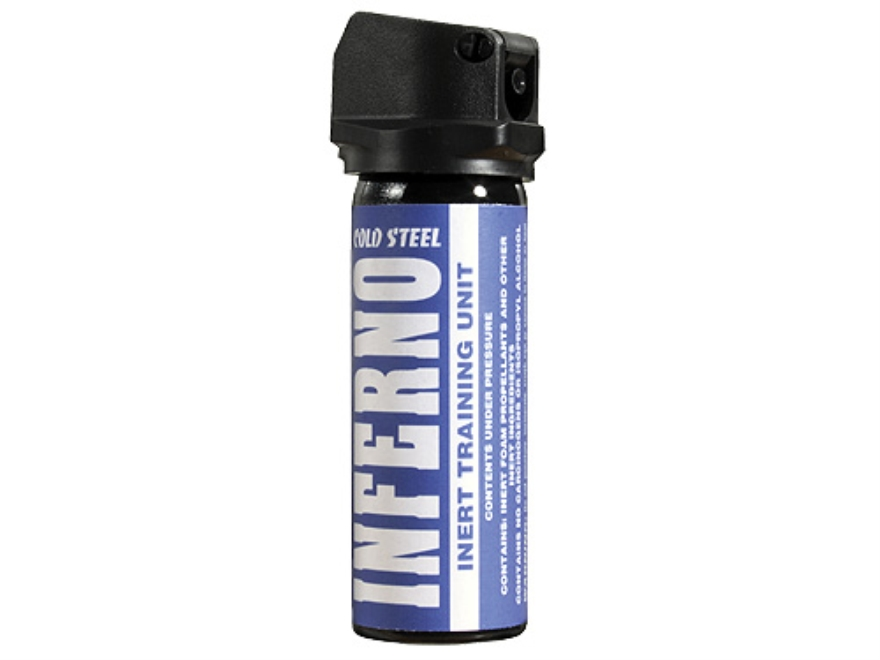 Cold Steel INFERNO Inert 70 Gram Unit  Pepper Spray Water Base Inert Black