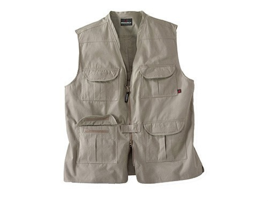 Woolrich Elite Lightweight Discreet Carry Vest Cotton Canvas Khaki Large