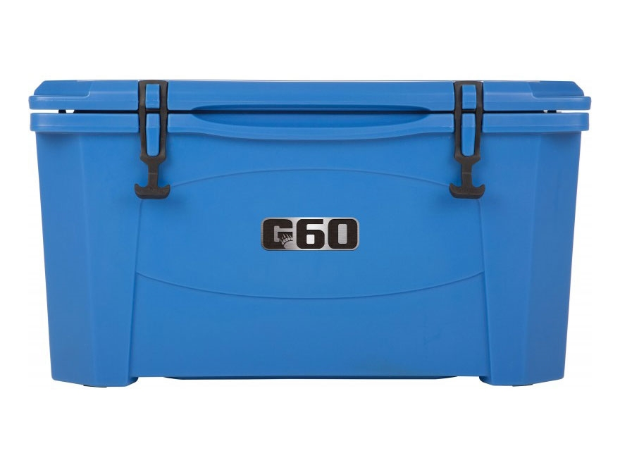 Grizzly 60 Qt Cooler with Molded Handles Polyethylene Blue