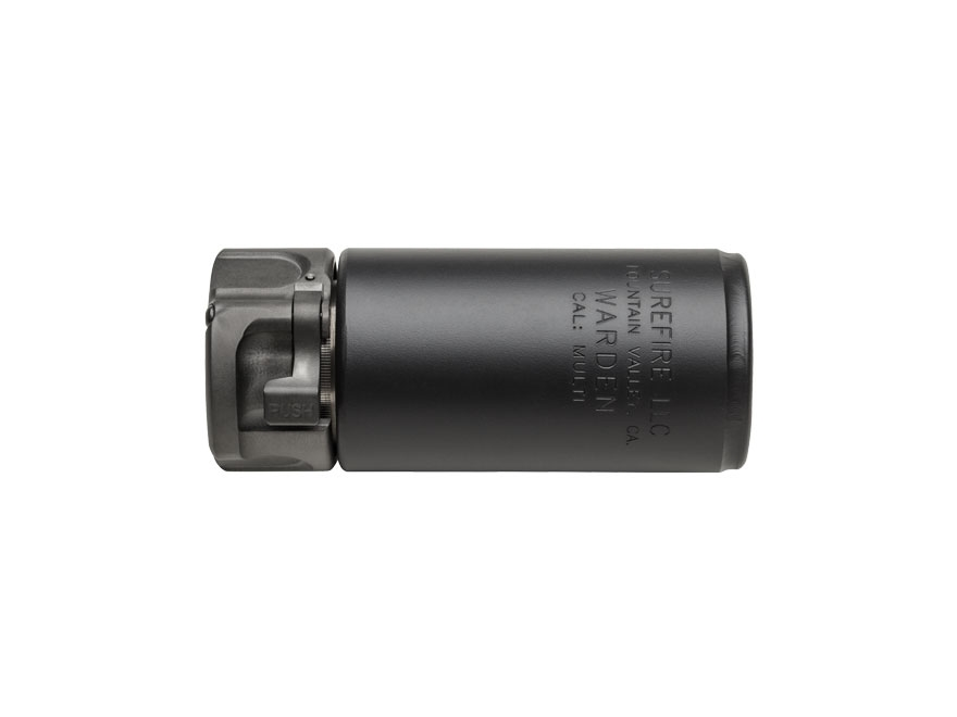 Surefire Warden Blast Diffuser for SOCOM Muzzle Devices Stainless Steel