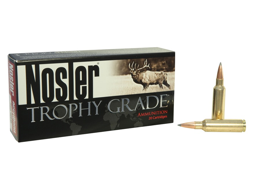 Nosler Trophy Grade Ammunition 300 Winchester Short Magnum (WSM) 190 Grain AccuBond Lon...