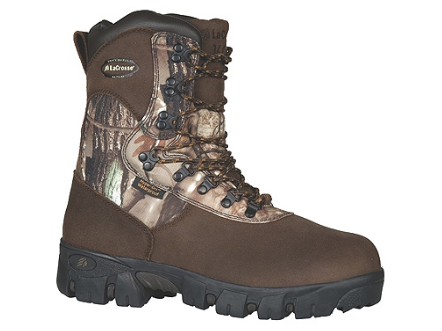 "LaCrosse Game Country HD 8"" Waterproof 1600 Gram Insulated Hunting Boots Nylon Realtree..."