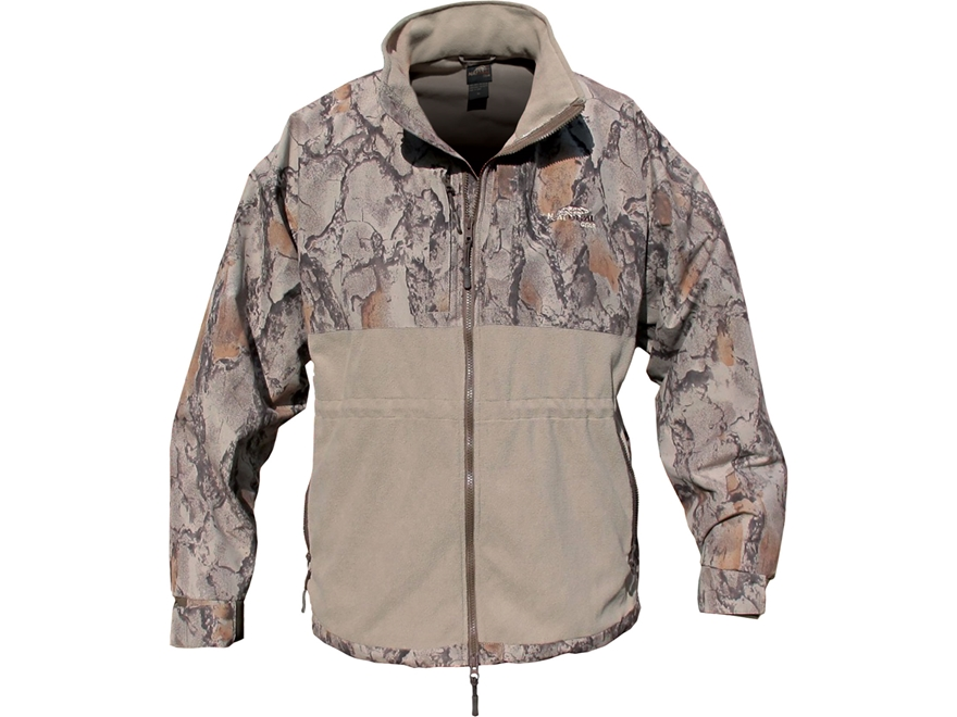 Natural Gear Mens Windproof Hybrid Fleece Jacket Long Sleeve Polyester