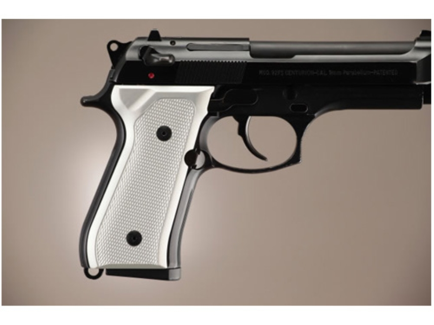 Hogue Extreme Series Grip Beretta 92F, 92FS, 92SB, 96, M9 Checkered Brushed Aluminum Gl...