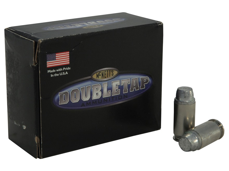 DoubleTap Ammunition 45 ACP +P 255 Grain Hard Cast Lead Semi-Wadcutter Box of 20