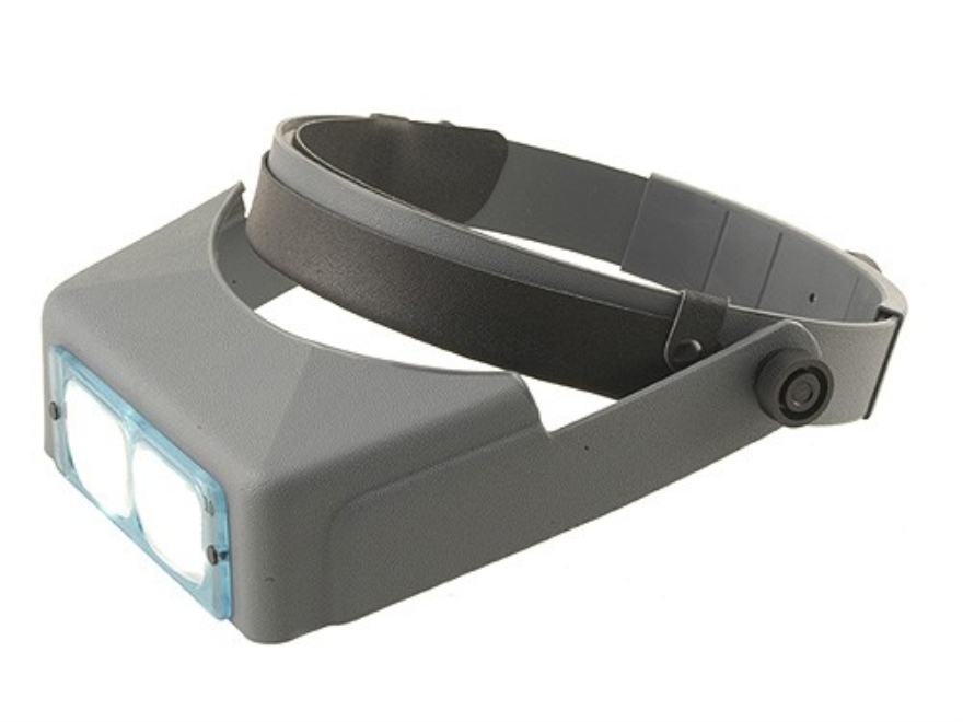 "Donegan Optical OptiVISOR Magnifying Headband Visor with 3-1/2X at 4"" Lens Plate"