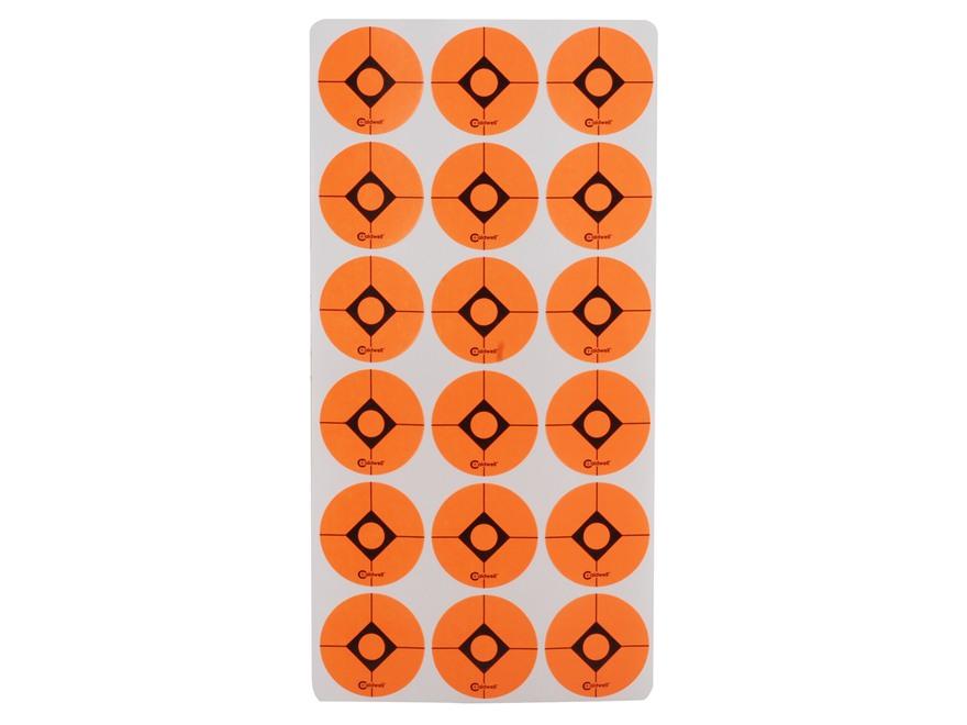 "Caldwell Shooting Spots 1"" Pack of 12 Sheets 18 Spots per Sheet Orange"