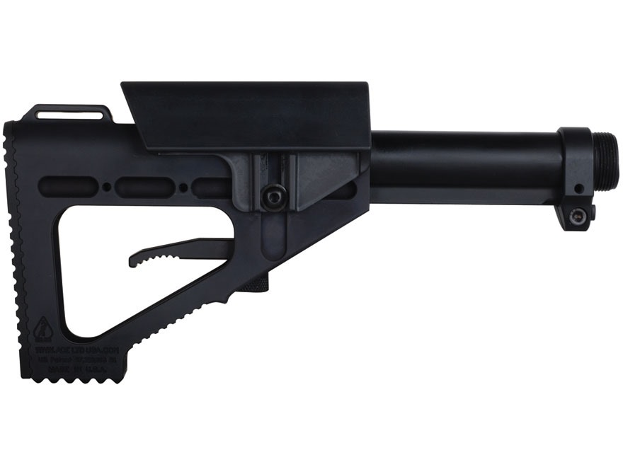ACE Hammer Stock 7-Position Collapsible AR-15, LR-308 Aluminum Black