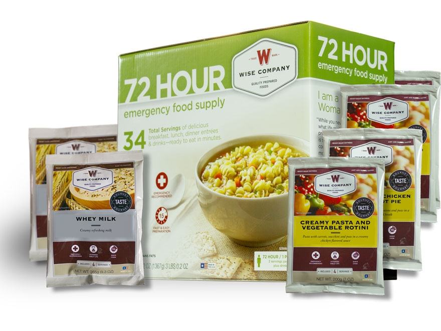 Wise Food 72 Hour Emergency Food Supply Freeze Dried Food Kit