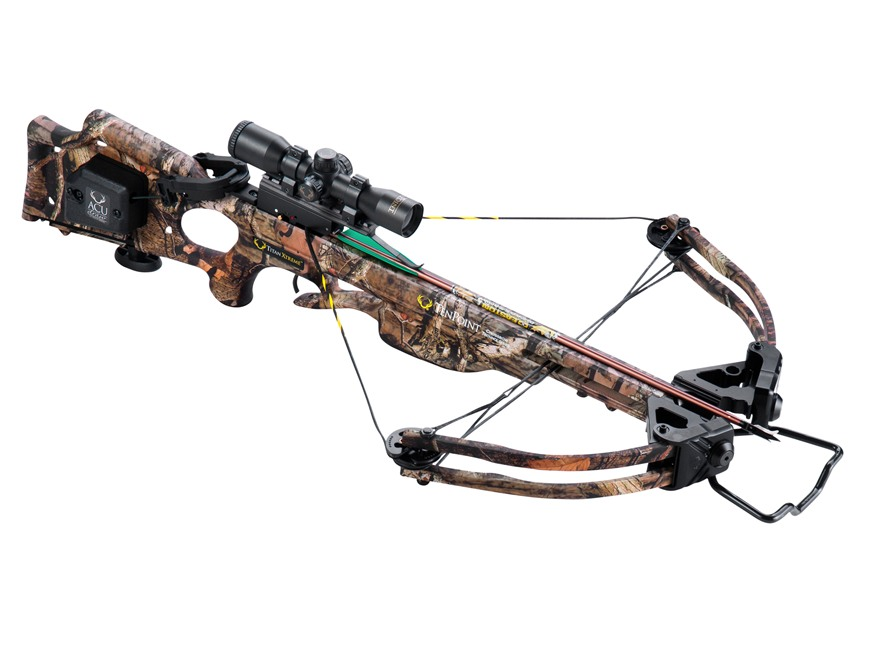 TenPoint Titan Xtreme Crossbow Package with 3x Pro-View 2 Scope and ACUdraw Mossy Oak B...