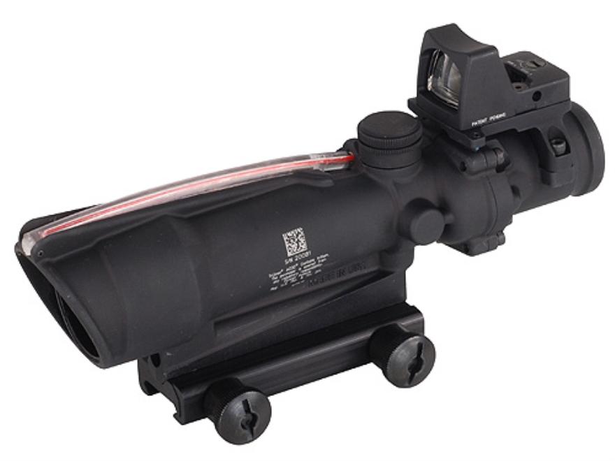 Trijicon ACOG TA11-RMR BAC Rifle Scope 3.5x 35mm Dual-Illuminated Red Crosshair 223 Rem...