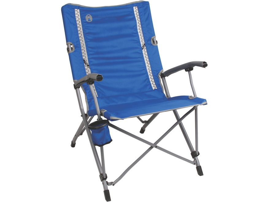 Coleman ComfortSmart Interlock Suspension Camp Chair Polyester and Steel Blue