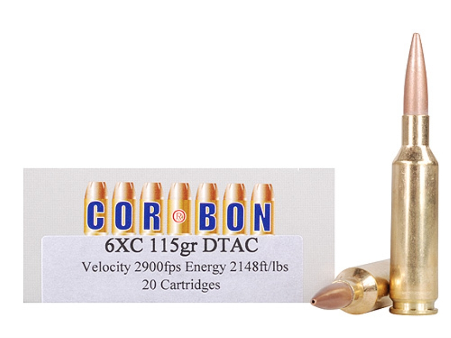Cor-Bon Performance Match Ammunition 6mm XC 115 Grain DTAC Box of 20