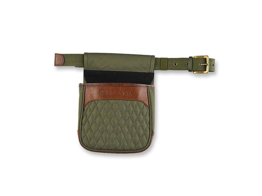 Beretta B1 Signature Shell Pouch with Belt Canvas/Leather Loden Green/Brown