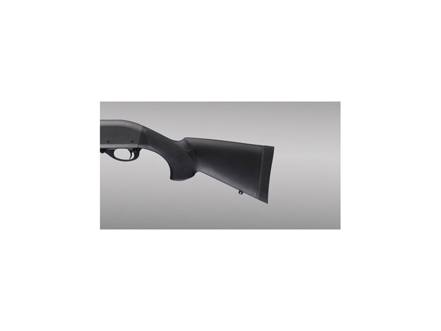 "Hogue Rubber OverMolded Stock Remington 870 with 12"" Length of Pull Synthetic Black"