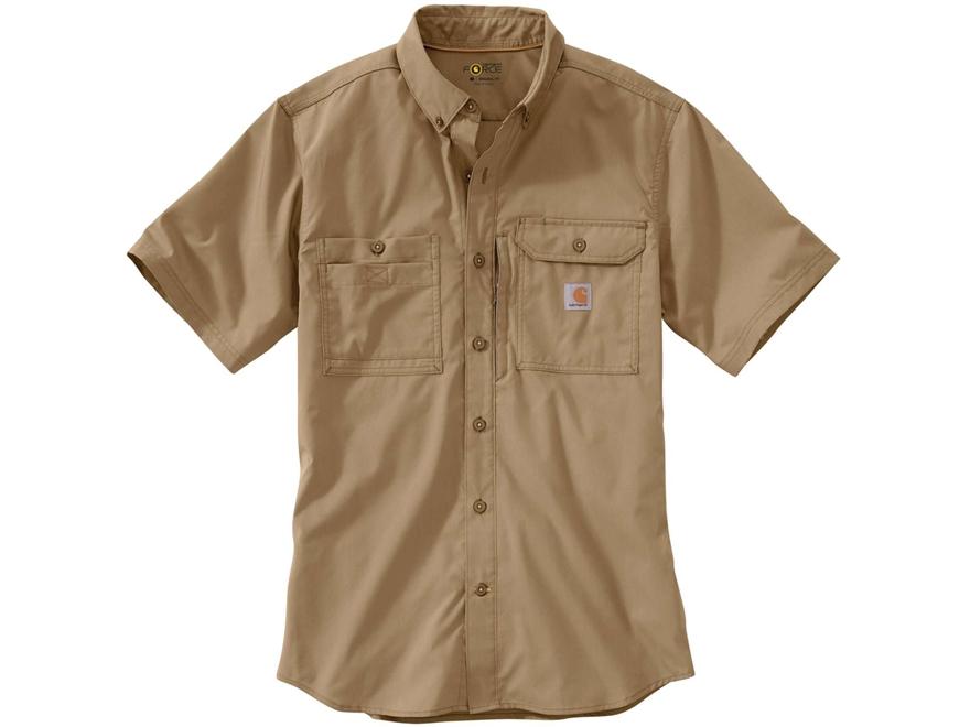 Carhartt Men 39 S Force Ridgefield Button Up Shirt Short Sleeve