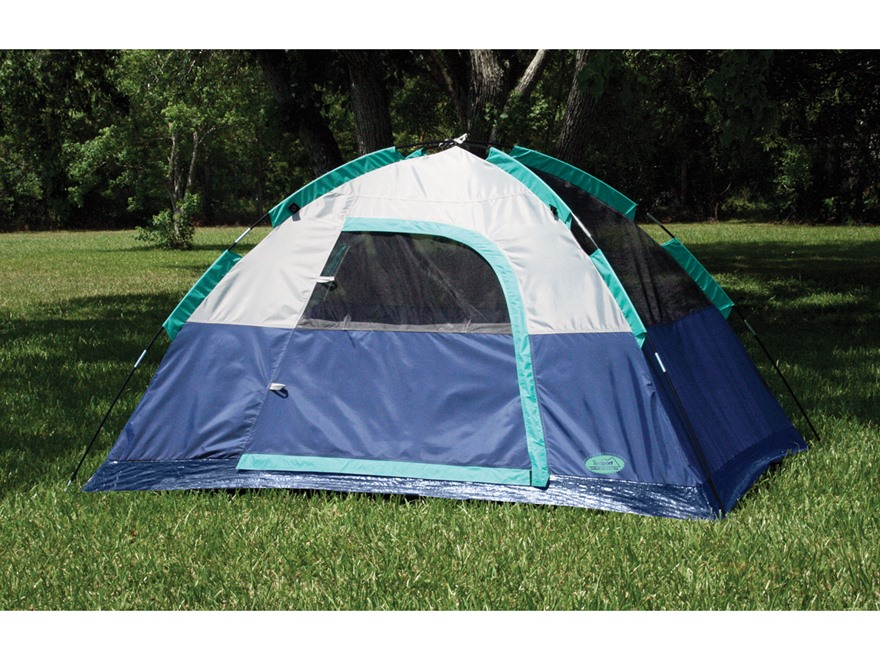Texsport Riverstone 2-Person Dome Tent Polyester Legion Blue, Storm Gray and Mint Green