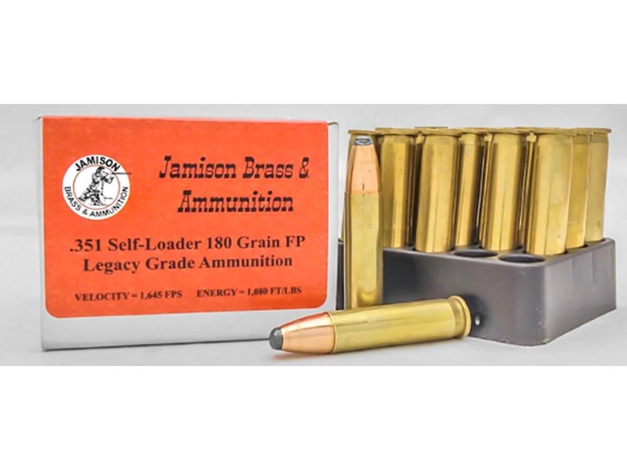Jamison Ammunition 351 Winchester Self-Loader 180 Grain Flat Point Box of 20