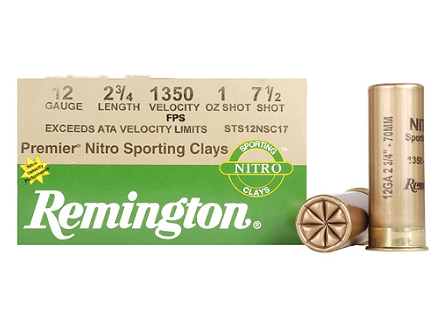 "Remington Premier Nitro Gold Sporting Clays Ammunition 12 Gauge 2-3/4"" 1 oz #7-1/2 Shot..."