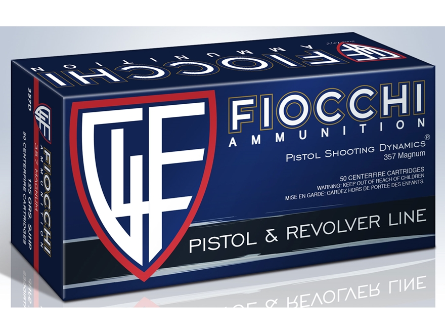 Fiocchi Shooting Dynamics Ammunition 357 Magnum 125 Grain Semi-Jacketed Hollow Point Bo...