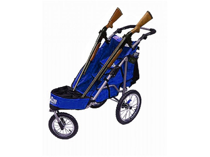 Rugged Gear Standard Two Gun Shooting Cart with Swivel Front Wheel Blue with Flat Free ...