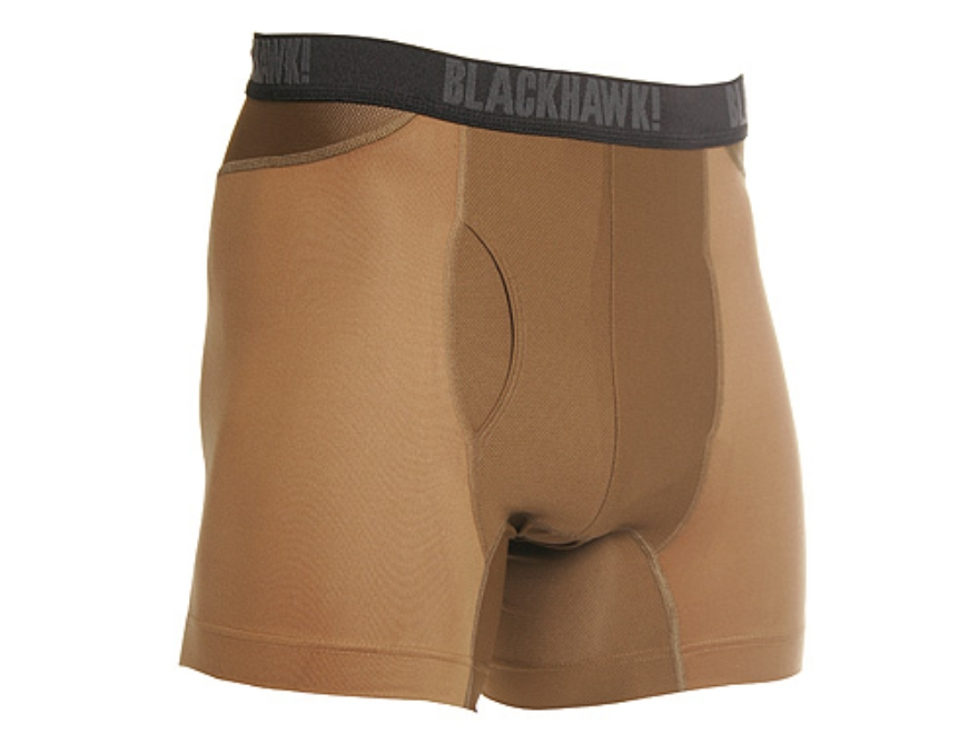 "BLACKHAWK! Engineered Fit Boxer Briefs Synthetic Blend Coyote Tan XL (40"" to 42"")"