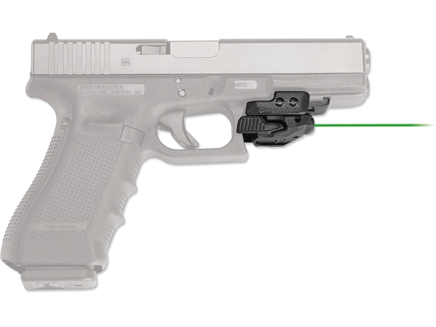 Crimson Trace Mini Rail Master Green Laser Sight with Universal Rail Mount Polymer Black