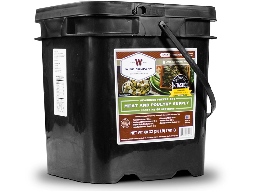Wise Food 60 Serving Meat Freeze Dried Food with 20 Servings of Rice