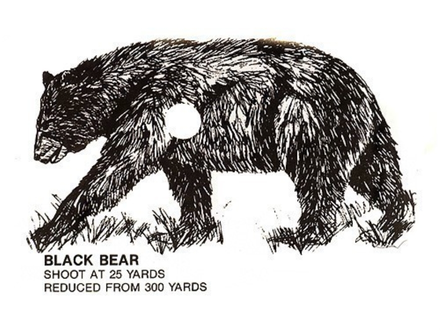 "Lyman Target Clean Kill Black Bear, Brown Bear, Coyote, Sheep, Goat 4"" x 6"" Package of 18"