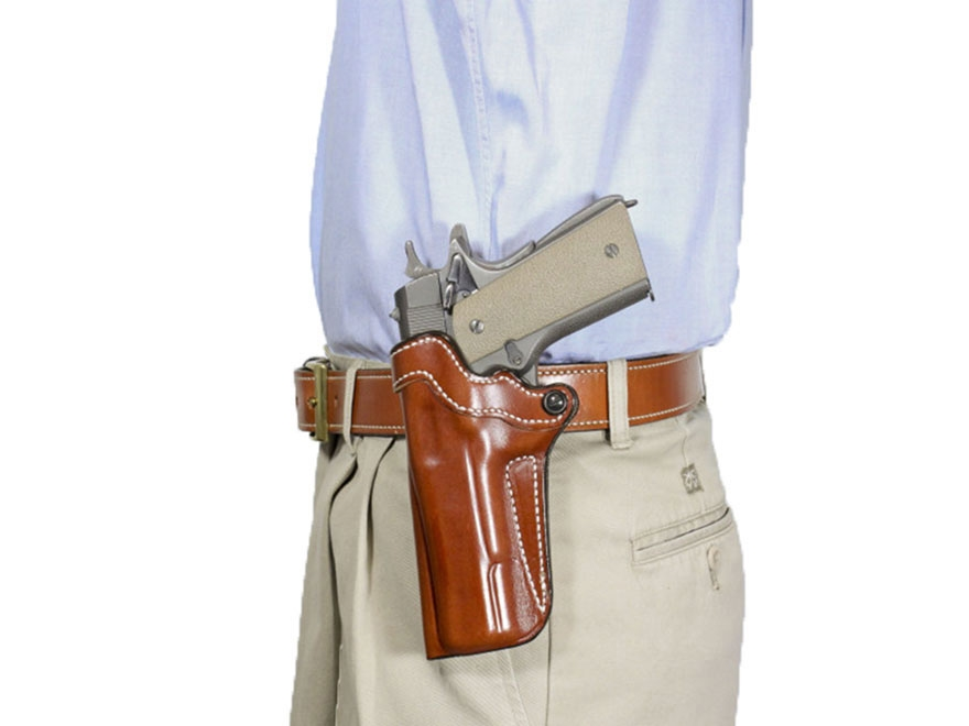 DeSantis Top Cop 2.0 Paddle and Belt Holster Kimber K6S Leather