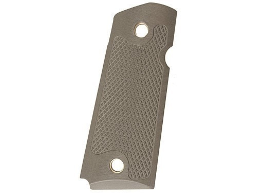 AlumaGrips Grips 1911 Officer Checkered Cut for Ambidextrous Thumb Safety Aluminum