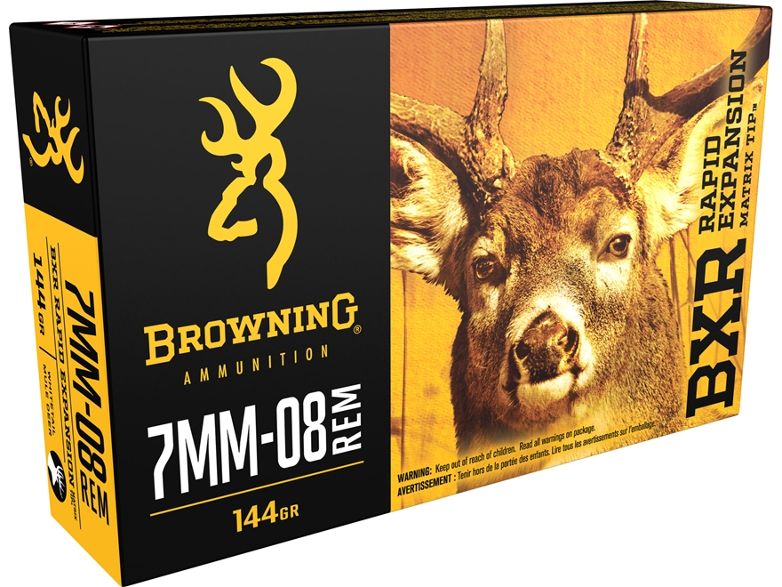 Browning BXR Rapid Expansion Ammunition 7mm-08 Remington 144 Grain Matrix Tip