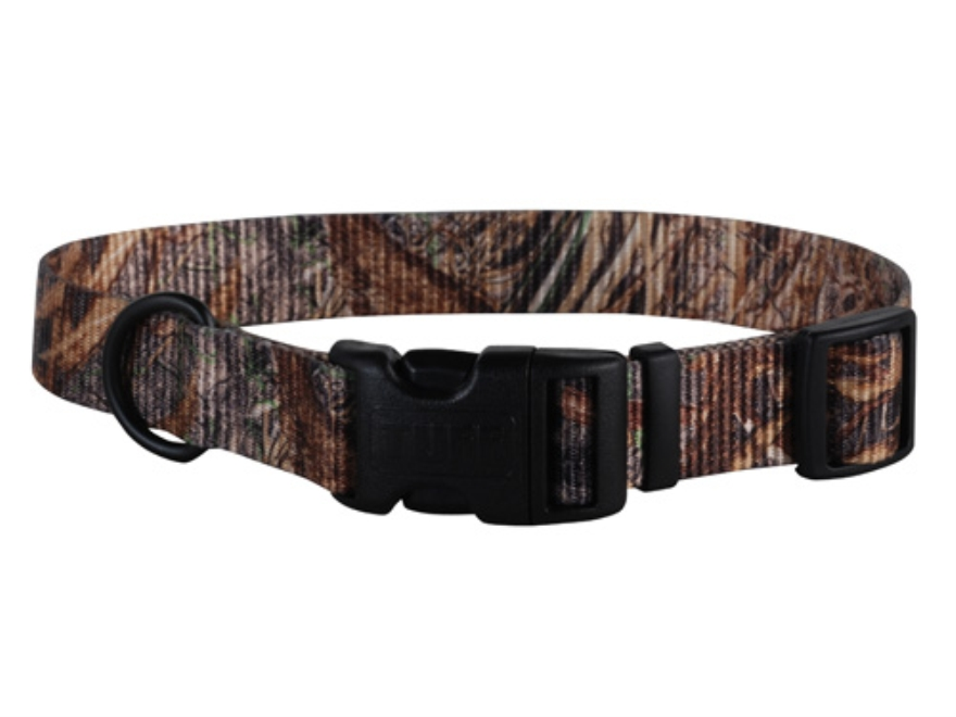 "Remington Adjustable Clip Dog Collar 1"" x 18-26"" Canvas and Nylon Brown"