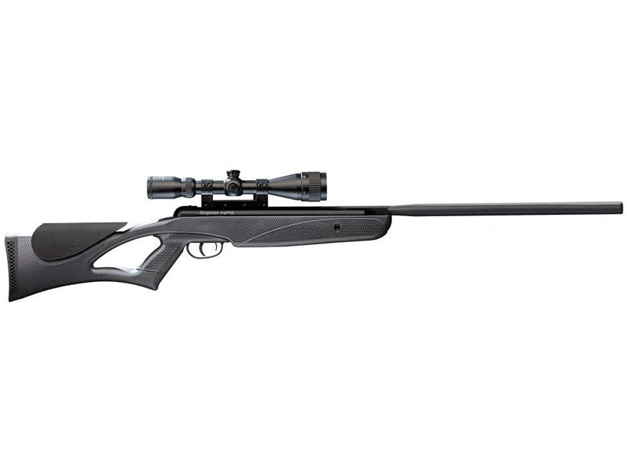 Benjamin Nitro Piston Air Rifle 177 Caliber Pellet Black Synthetic Stock Blued Barrel w...