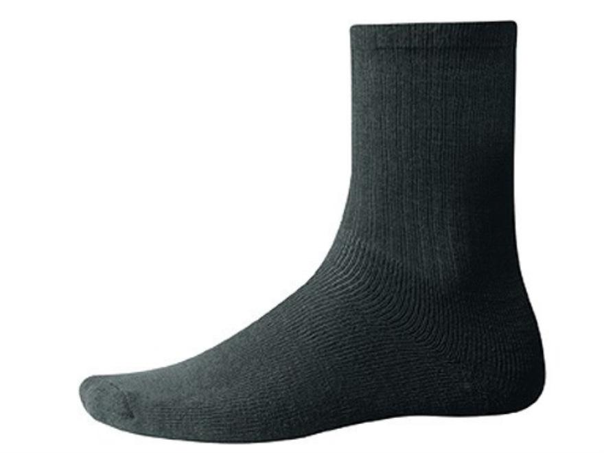 Wool Power Men's 400 Gram Crew Socks Wool Black Large (7-10)