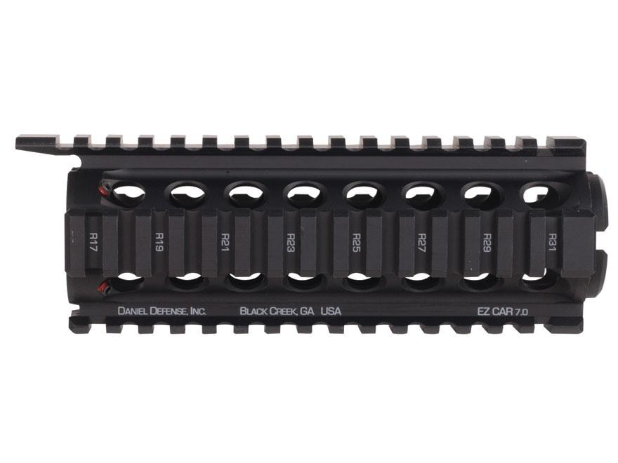 Daniel Defense EZ CAR 7.0 2-Piece Handguard Quad Rail AR-15 Carbine Length Aluminum Black