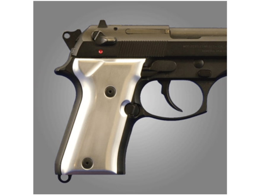 Hogue Extreme Series Grip Beretta 92FS Compact Brushed Aluminum Gloss Clear