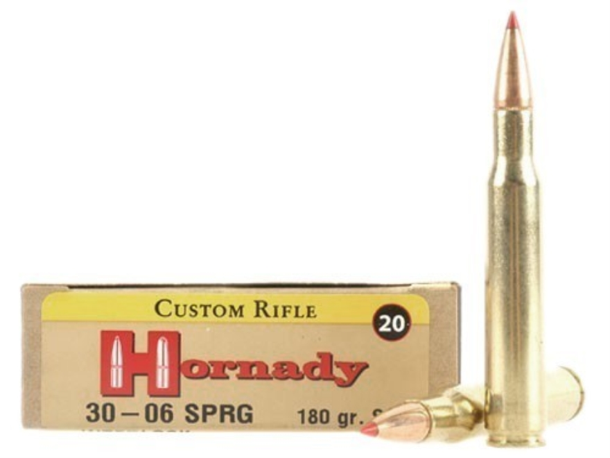 Hornady Custom Ammunition 30-06 Springfield 180 Grain SST Box of 20