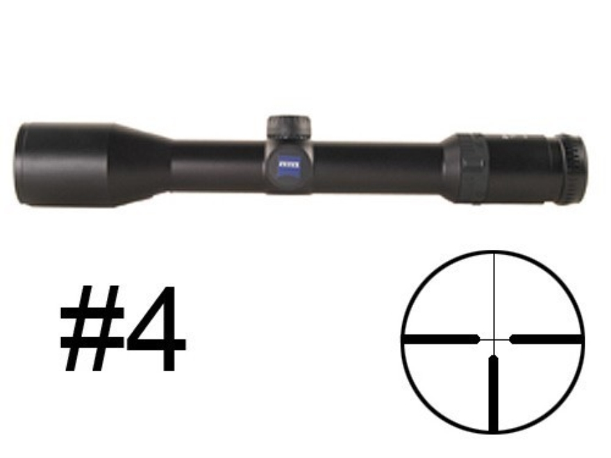 Zeiss Diavari VM/V Rifle Scope 30mm Tube 2.5-10x 42mm First Focal #4 Reticle Matte