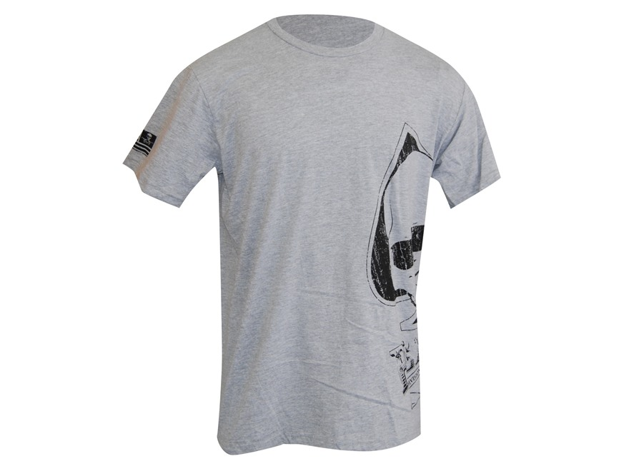 Advanced Armament Co (AAC) Blackout Spade Sideprint T-Shirt Short Sleeve Cotton Gray 2XL