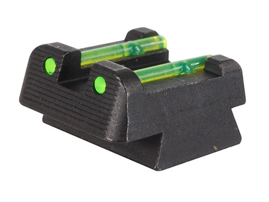 HIVIZ Rear Sight CZ 75, 83, 85, 97, P-01 Fiber Optic Green
