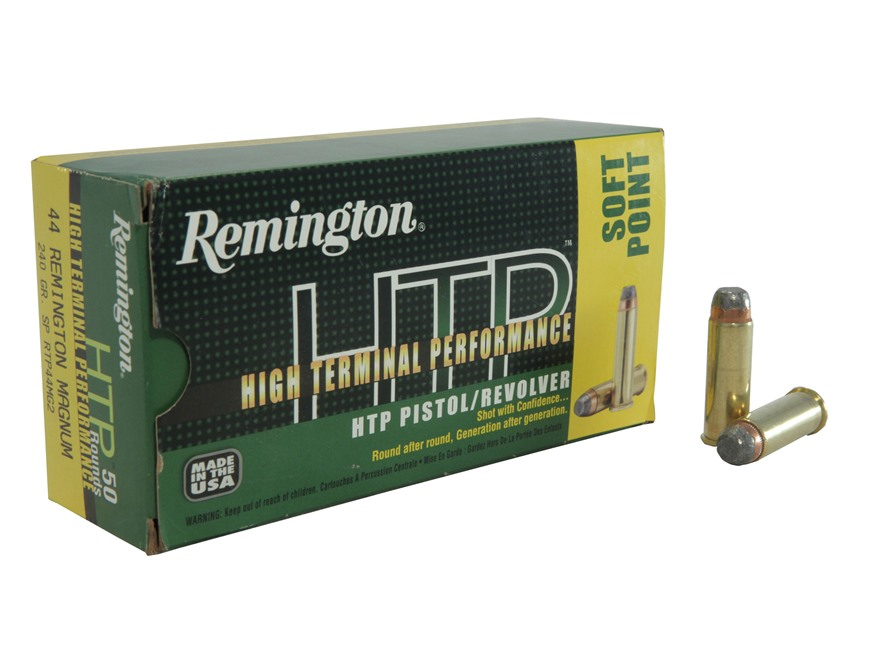 Remington High Terminal Performance Ammunition 44 Remington Magnum 240 Grain Jacketed S...