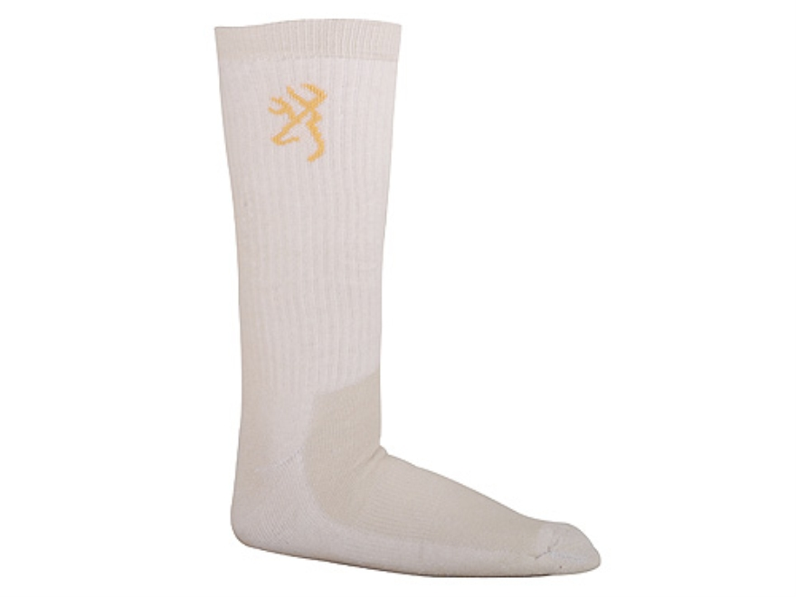 Browning Men's Lightweight Crew Socks Synthetic Blend Khaki Large 10-13