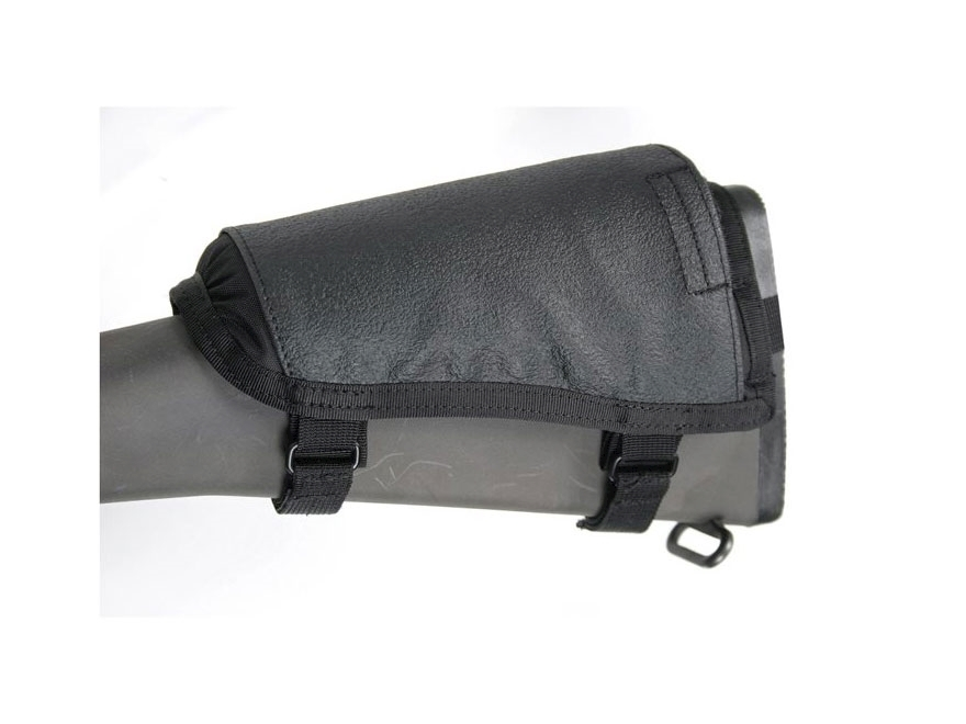 BLACKHAWK! Hawktex Tactical Ambidextrous Rifle Cheek Rest Fixed Stock Rifle Nylon Black
