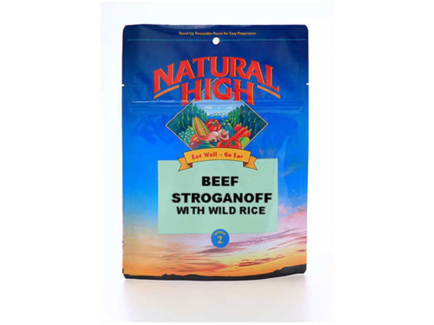 Natural High Beef Stroganoff with Rice Freeze Dried Meal 5.87 oz