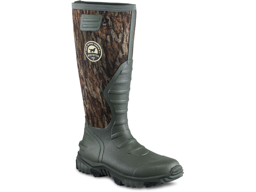 "Irish Setter Rutmaster 2.0 Lite 17"" Uninsulated Hunting Boots Rubber Clad Neoprene Moss..."