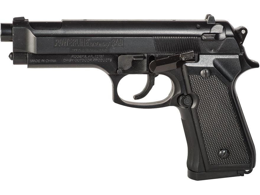 Daisy Powerline 340 Air Pistol 177 Caliber BB Black Polymer Grips Matte