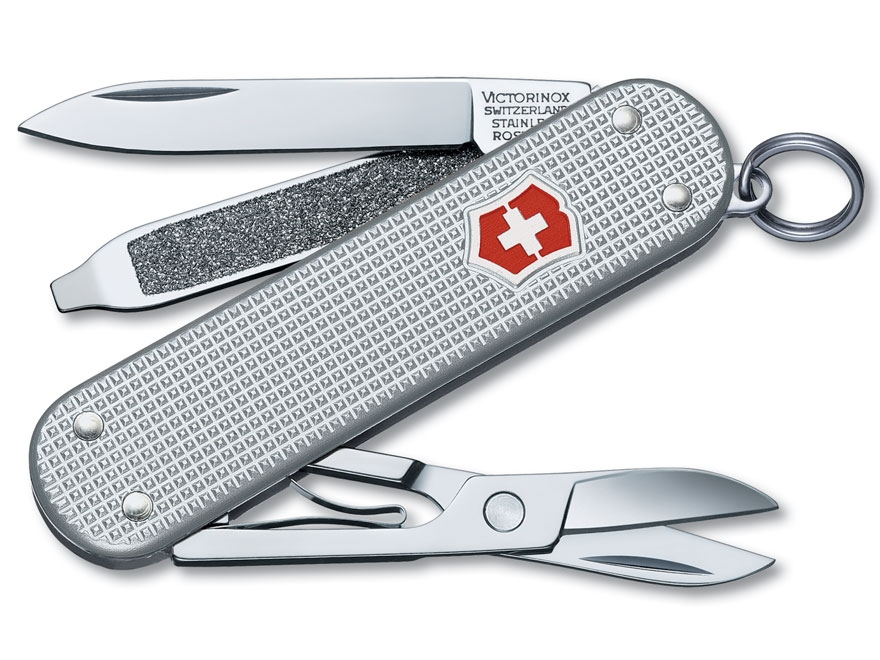 Victorinox Swiss Army Classic SD Folding Pocket Knife 5 Function Stainless Steel Blade ...